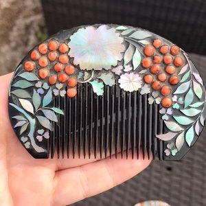 Antique Japanese Kushi Hair Comb
